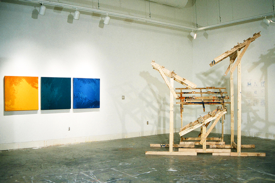 PAINTING MACHINE, UVIC GRAD ART SHOW 2000, by Vancouver artist and designer Kennedy Telford
