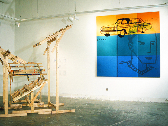GRACE INSTALLATION, with PAINTING MACHINE, by Vancouver artist and designer Kennedy Telford