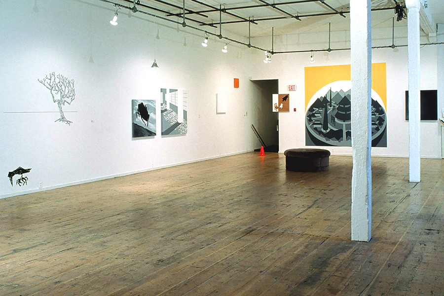 Installation view of SYSTEMS SYSTEMS CRUSH, at Open Space Gallery, by Vancouver artist and designer Kennedy Telford