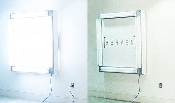 HEAVEN, a lightbox painting by Kennedy Telford.