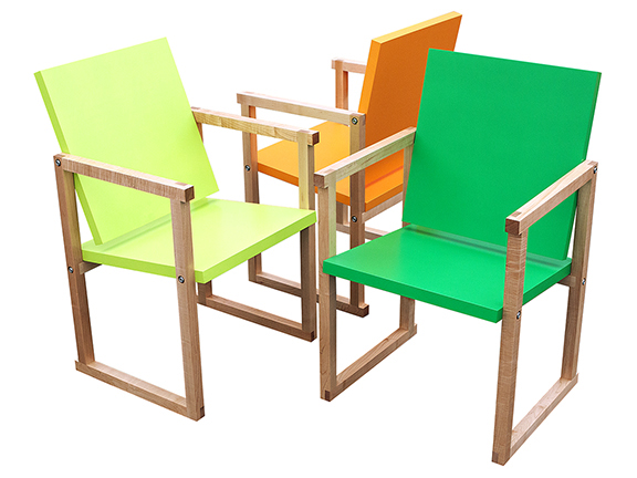 The Q9 CHAIRS by Kennedy Telford are colourful, ergonomic chairs for home and office, handmade in East Vancouver, and featuring a unique pivoting back for supporting changes in posture.