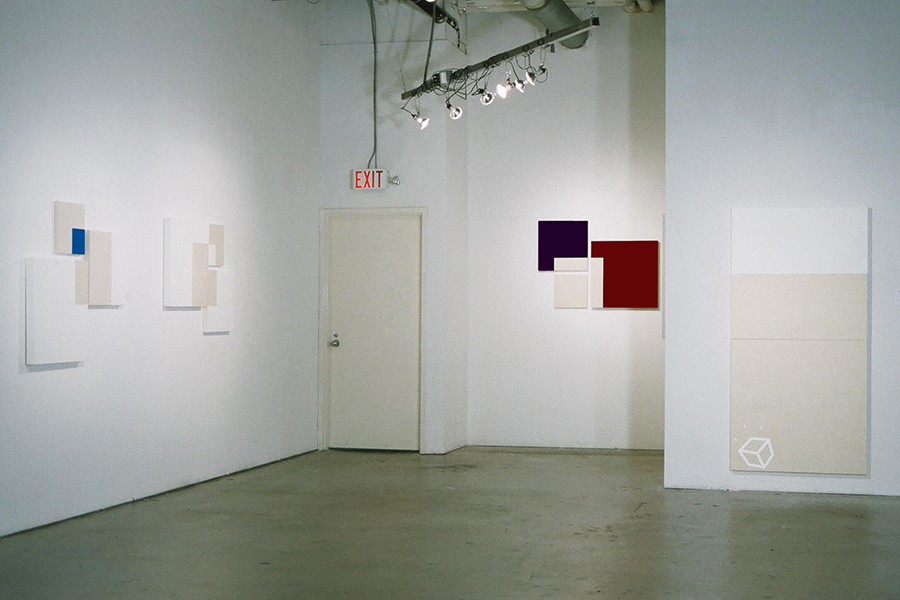 Installation view of IDEAS FOR A FEATURELESS RECTANGLE, at Rogue Art Gallery, by Vancouver artist and designer Kennedy Telford
